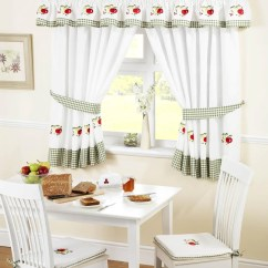 Fruit Kitchen Curtains Oak Pantry White Green Uk Delivery Terrys Fabrics