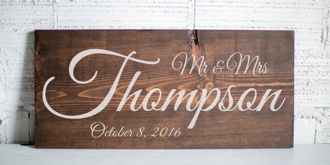 Last Name Wedding Sign