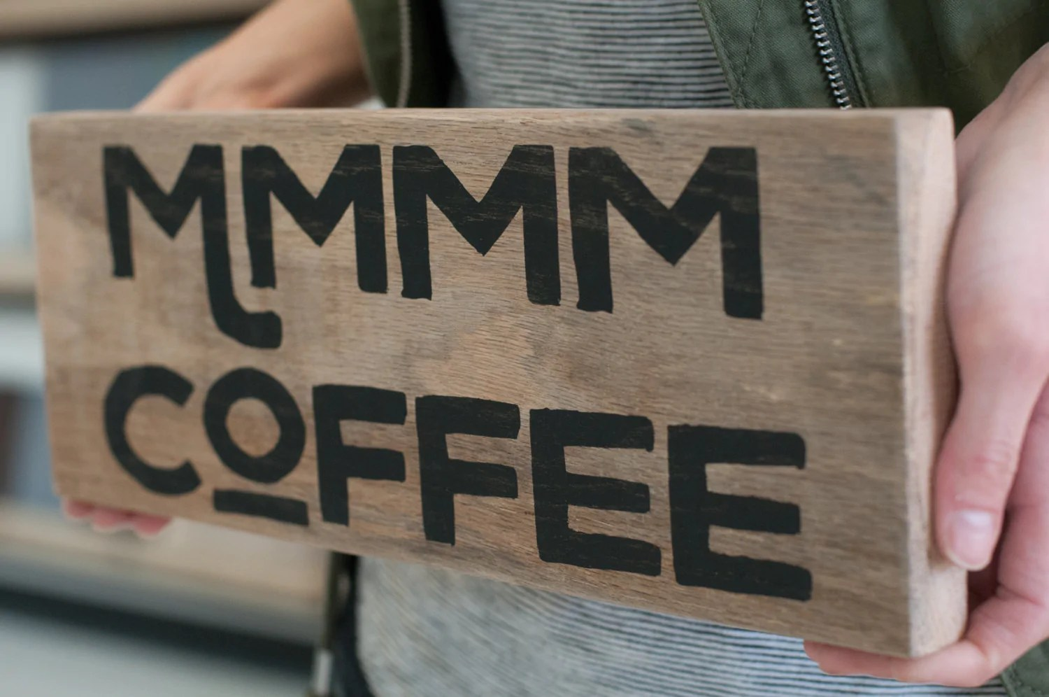 Reclaimed Wood Coffee Home Decor Sign Gift For Her