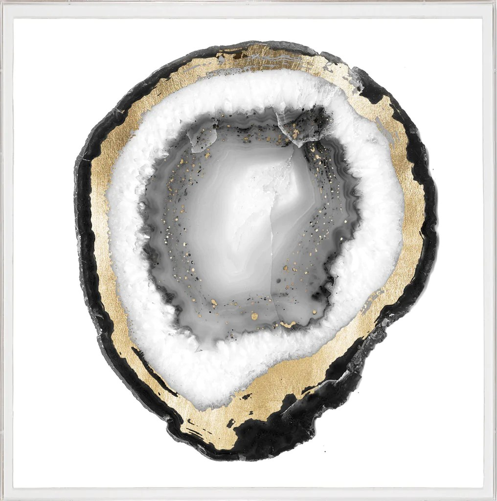 Natural Curiosities Black And White Geode 1