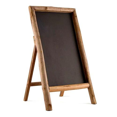 rustic wood frame chalkboard