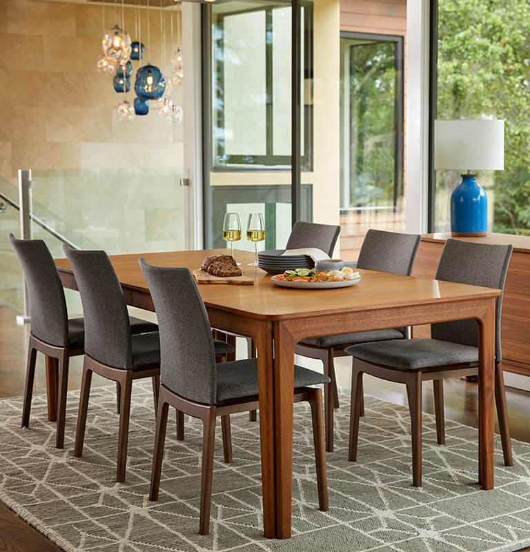 small living room table and chairs dark grey rugs dining tables dania furniture