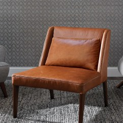 Modern Leather Accent Chairs Chair Legs Wood Dania Furniture