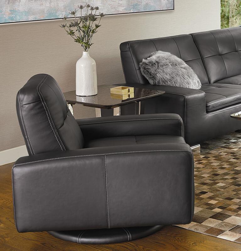 brown swivel chair folding nice chairs dania furniture