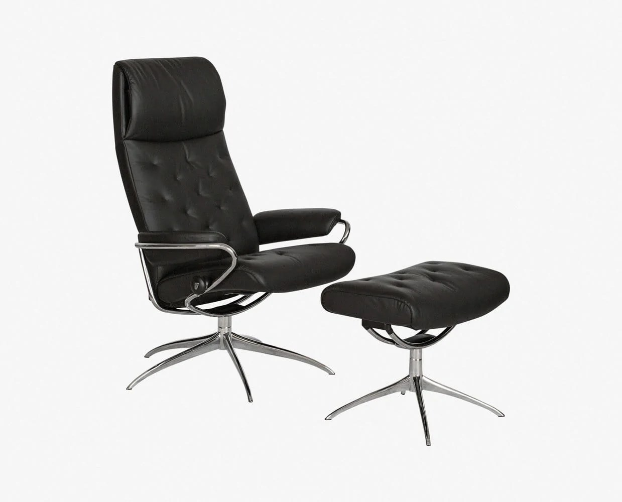 Dania Chairs Stressless Metro High Back Chair And Ottoman Dania Furniture