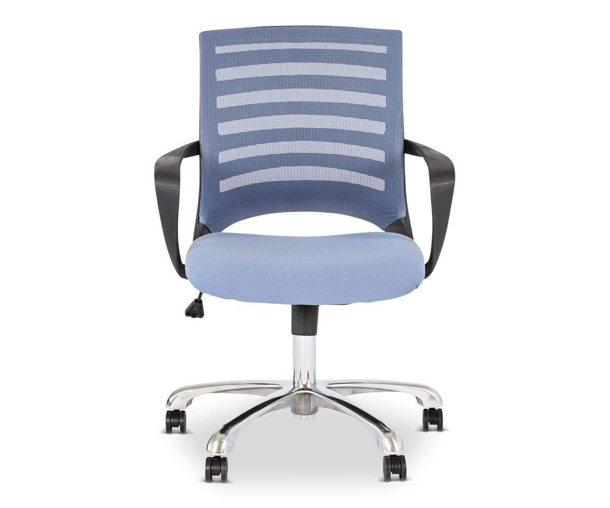 blue office chair chapel chairs with kneelers dania furniture barrier desk