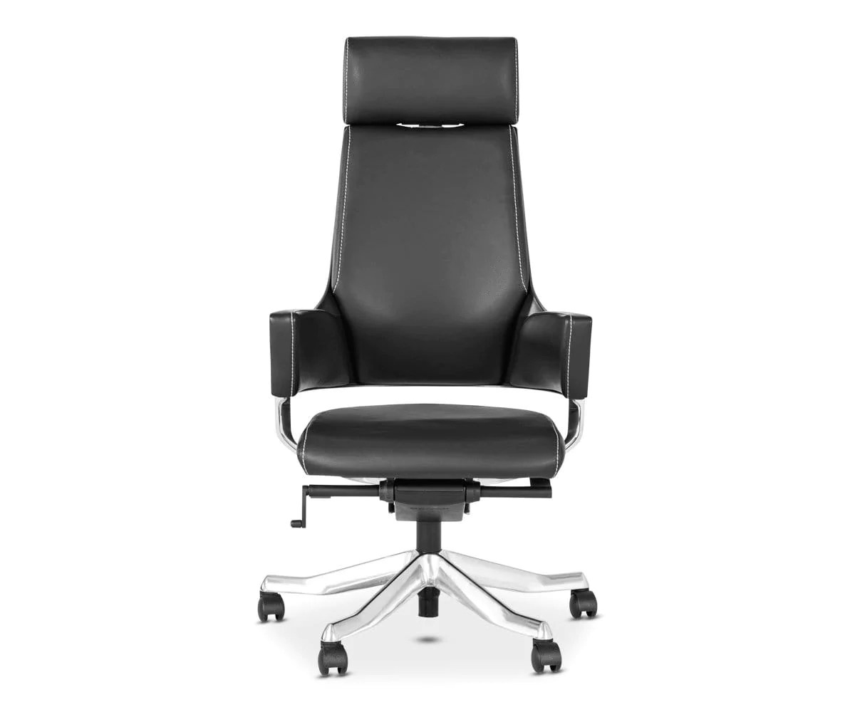 black leather desk chairs bedroom reading chair uk office dania furniture delphi