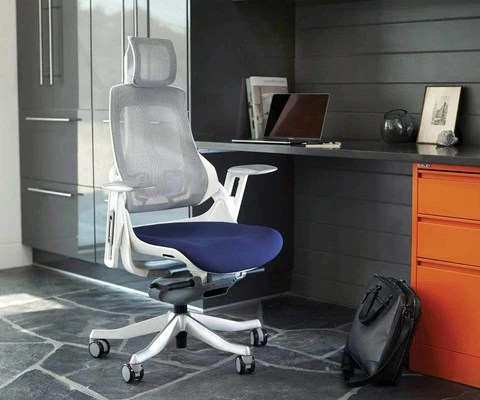 desk chair blue massage albuquerque office chairs dania furniture wau