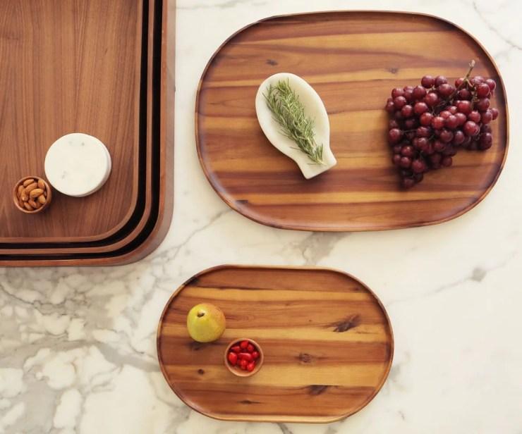 Oyer Oval Serving Tray - Walnut - Scandinavian Designs