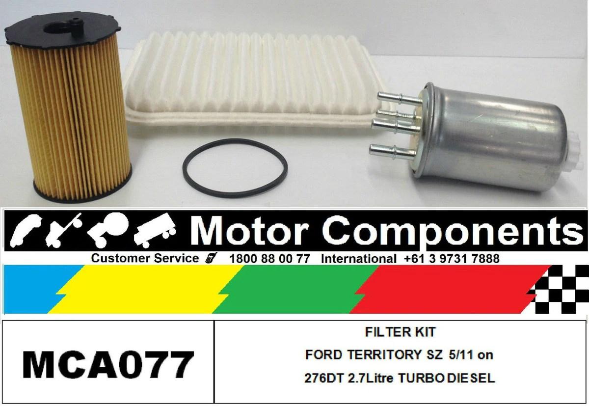 filter kit ford territory sz turbo diesel 276dt 2 7l v6 mpfi dohc 24v 2wd awd [ 1200 x 829 Pixel ]