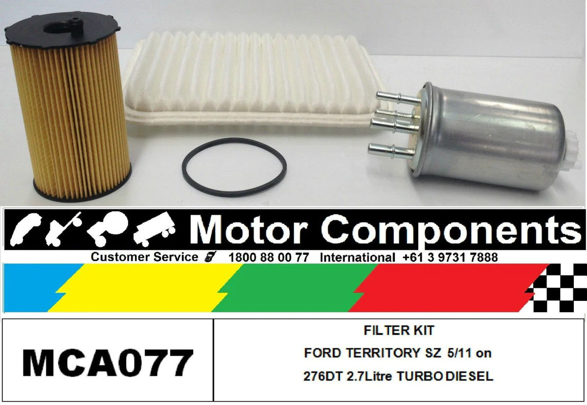 hight resolution of filter kit ford territory sz turbo diesel 276dt 2 7l v6 mpfi dohc 24v 2wd awd
