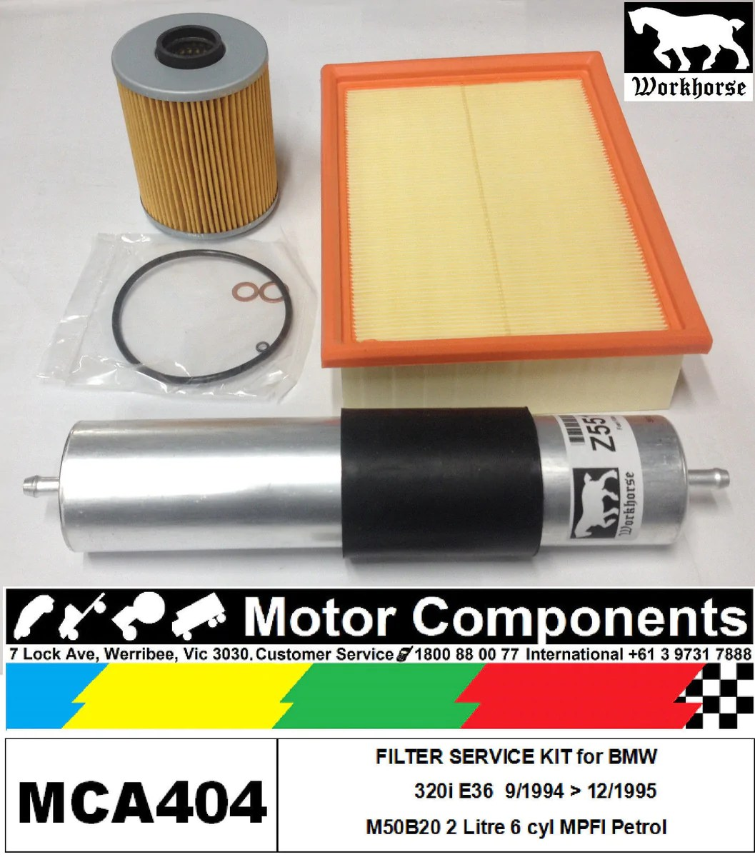 small resolution of filter kit oil air fuel for bmw 320i e36 m50b20 2 litre 6 cyl mpfi 9