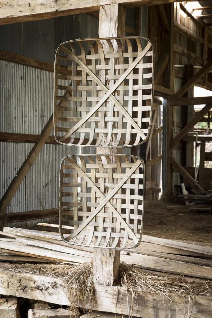 Large Square Tobacco Baskets Set Of 2 Farmhouse Fresh