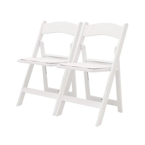 white folding chairs repair lawn chair vinyl straps atlas resin lane ganged