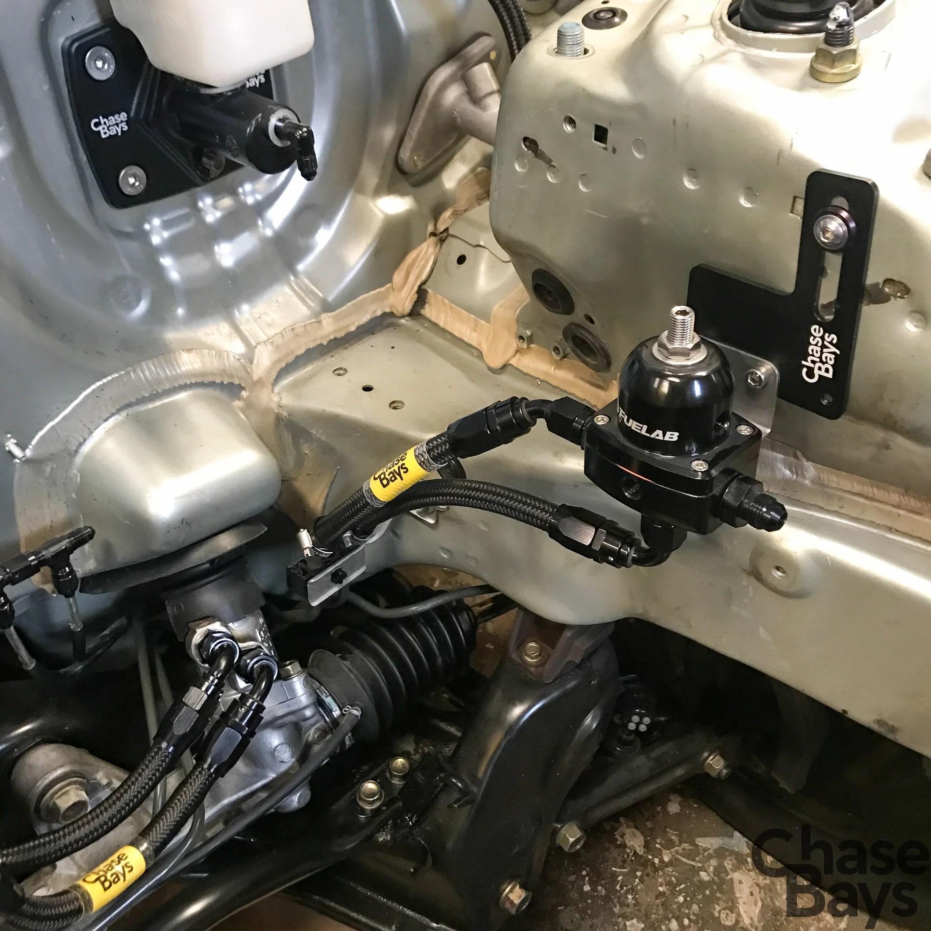 hight resolution of hybrid racing unibody fuel pressure regulator in black