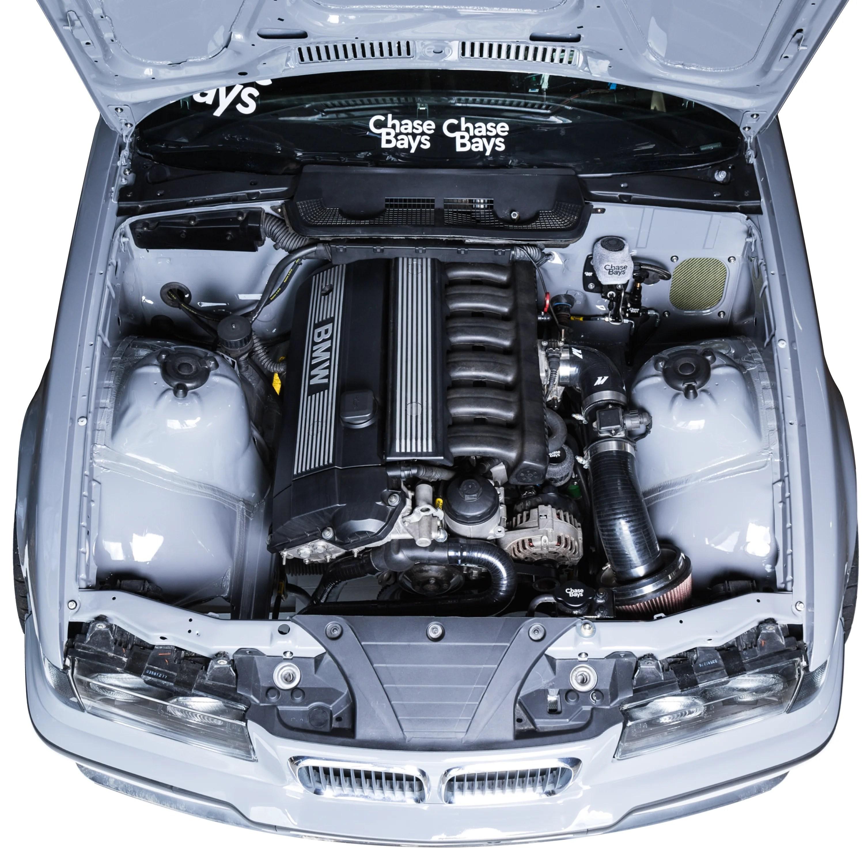 hight resolution of chase bays tucked aluminum radiator bmw e30 e36 e46 bmw e36 engine bay diagram full