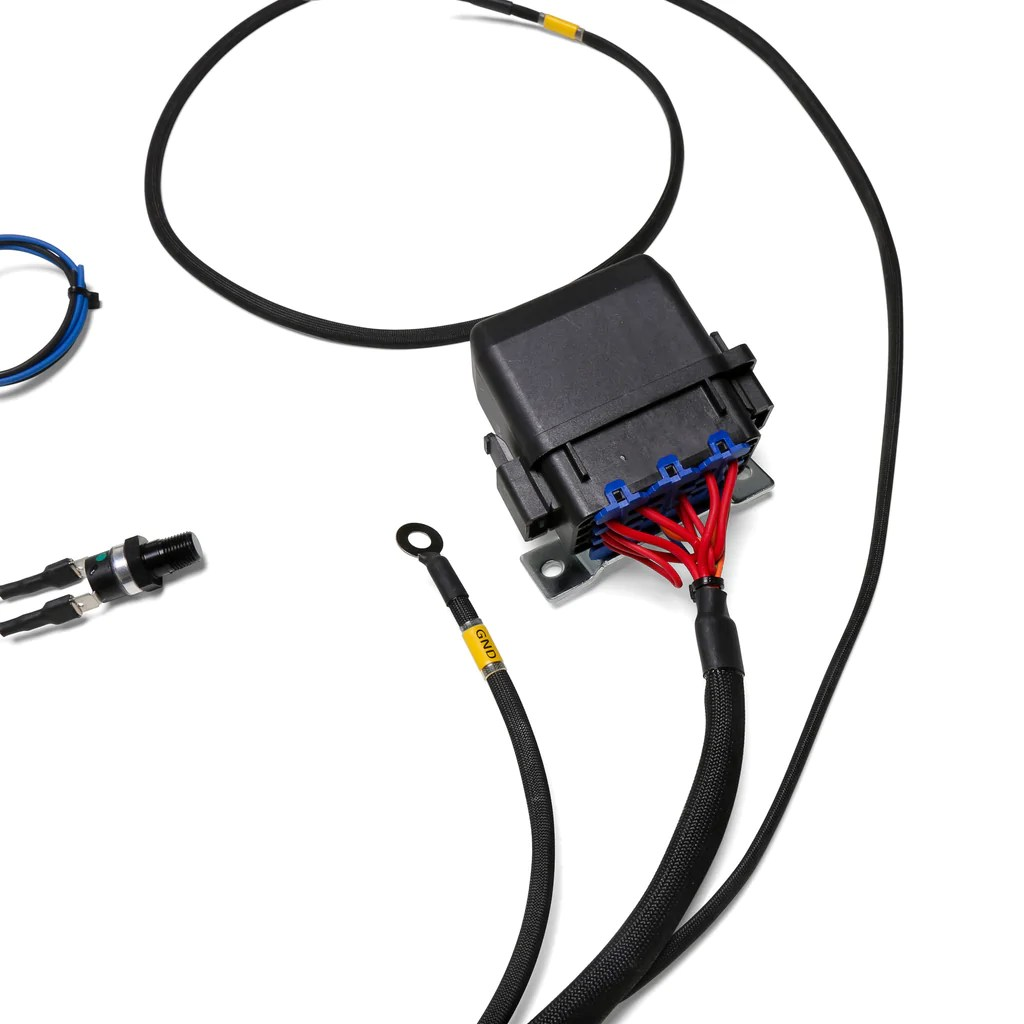 small resolution of chase bays dual fan relay wiring harness with 180 f thermoswitch 4 wire relay harness relay wire harness