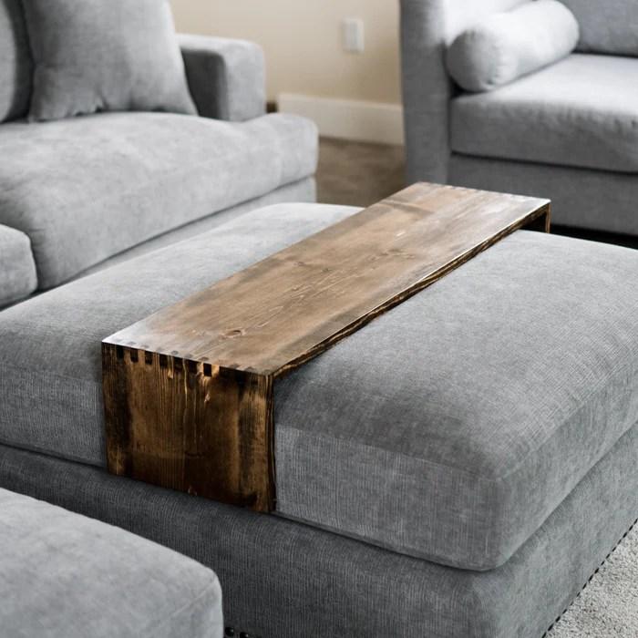 wood ottoman tray table made by deborah