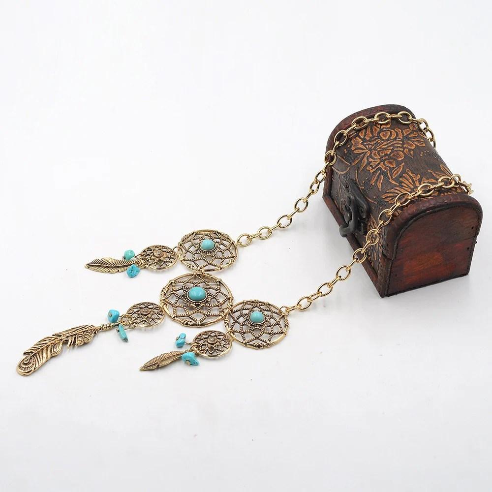 Native American Dream Catcher Necklace Tribal Jewelry