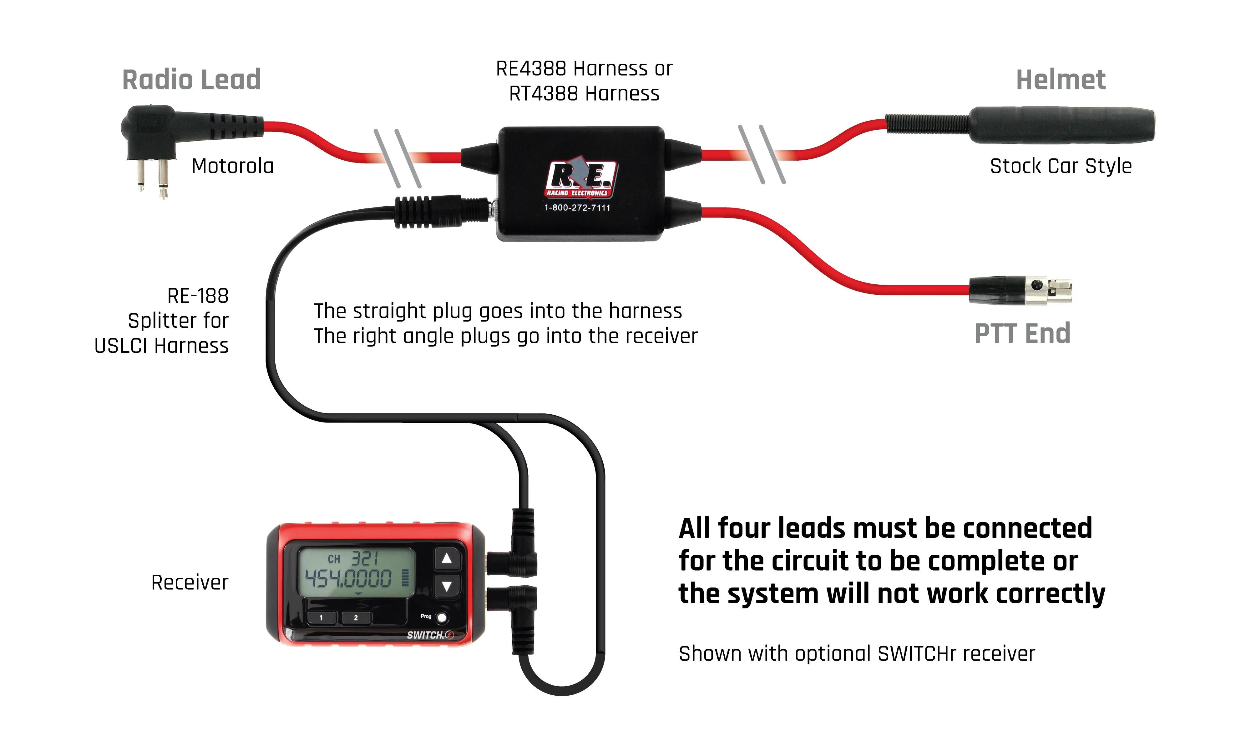 medium resolution of car harness 3 conductor racetrac 2 pin motorola uslci