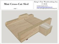 Mini Cross Cut Sled and Jobsite Saw Sled Plans  King's ...