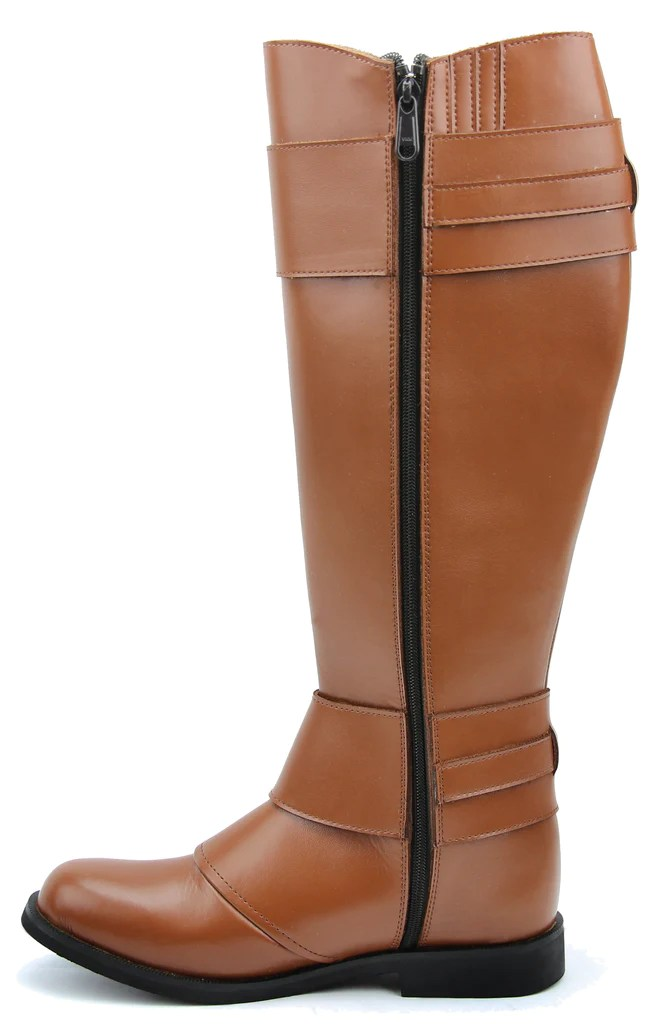 FAMMZ Mens Man Desire Fashion Stylish Motorcycle Riding Leather Tall Knee High Boots
