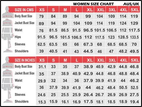 also women jacket size chart jesmine australia rh