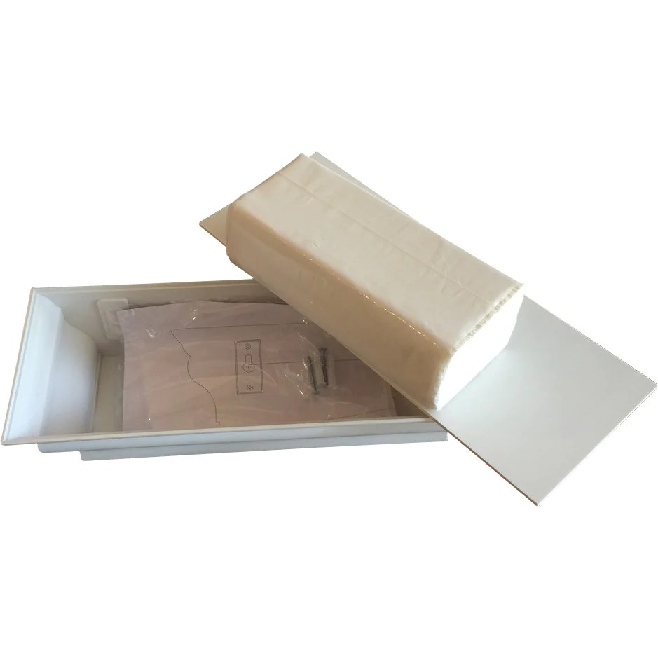 abs plastic wall mount healthyshelf paper towel dispenser white