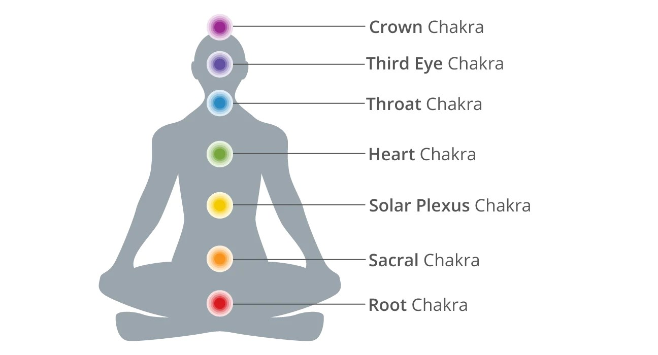 hight resolution of diagram of chakra