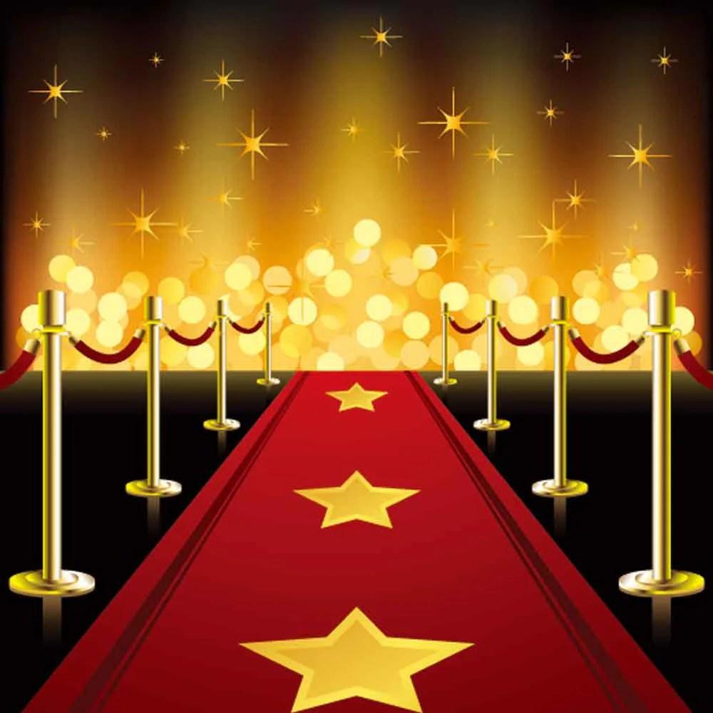 Red Carpet Backdrops Gold Glitter Backdrop Steps Background YY00194E  ibackdrop