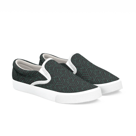 Slip On Shoes Black And White