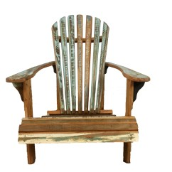 Adirondack Chair Wood Oversized With Ottoman Reclaimed Save The Planet Furniture Coastal Wooden Lounge