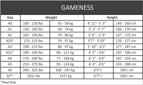 Size chart can   find your also gameness elite gi fightersmarket fighters market rh