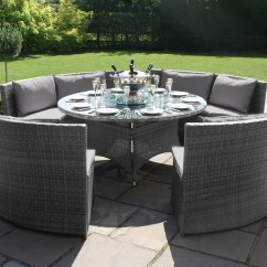 Rattan Sofa Set Uk 84 Inch Slipcover Dallas Dining Bench Grey Back Cushions Weave