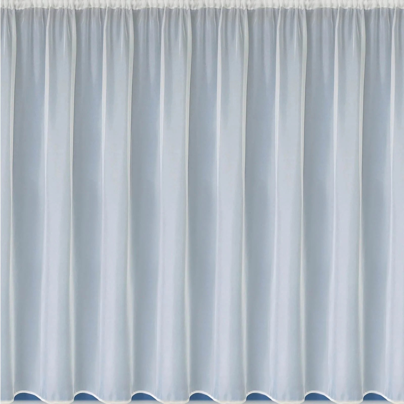 albany white pre cut white net curtain panels