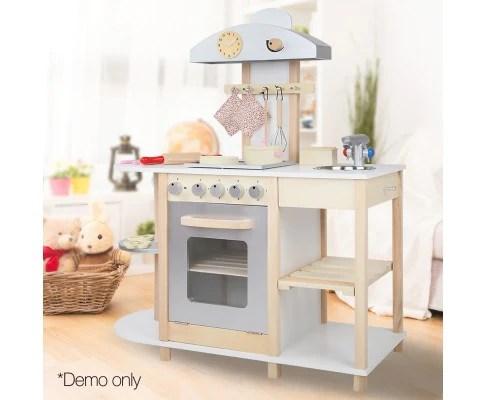 wooden kids kitchen swan sinks playset w 14 cooking accessories handy homewares