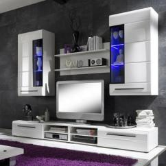 Living Room Furniture Sets Uk Paint Color Ideas With Dark Brown Entertainment Units Tv Cabinets Invictus Wall Mounted Unit Set In White High Gloss And Led Lights