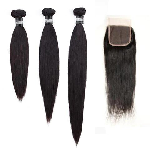 Layered cut sizes hair weave brazilian remy straight natural closure also rh miamihairshop