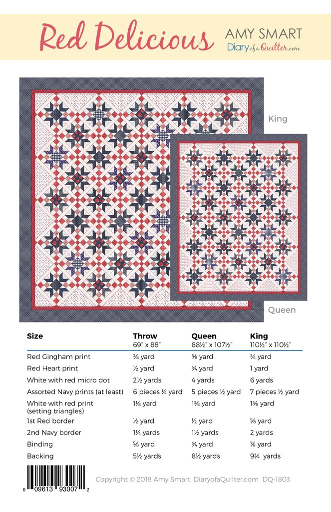 red delicious star quilt