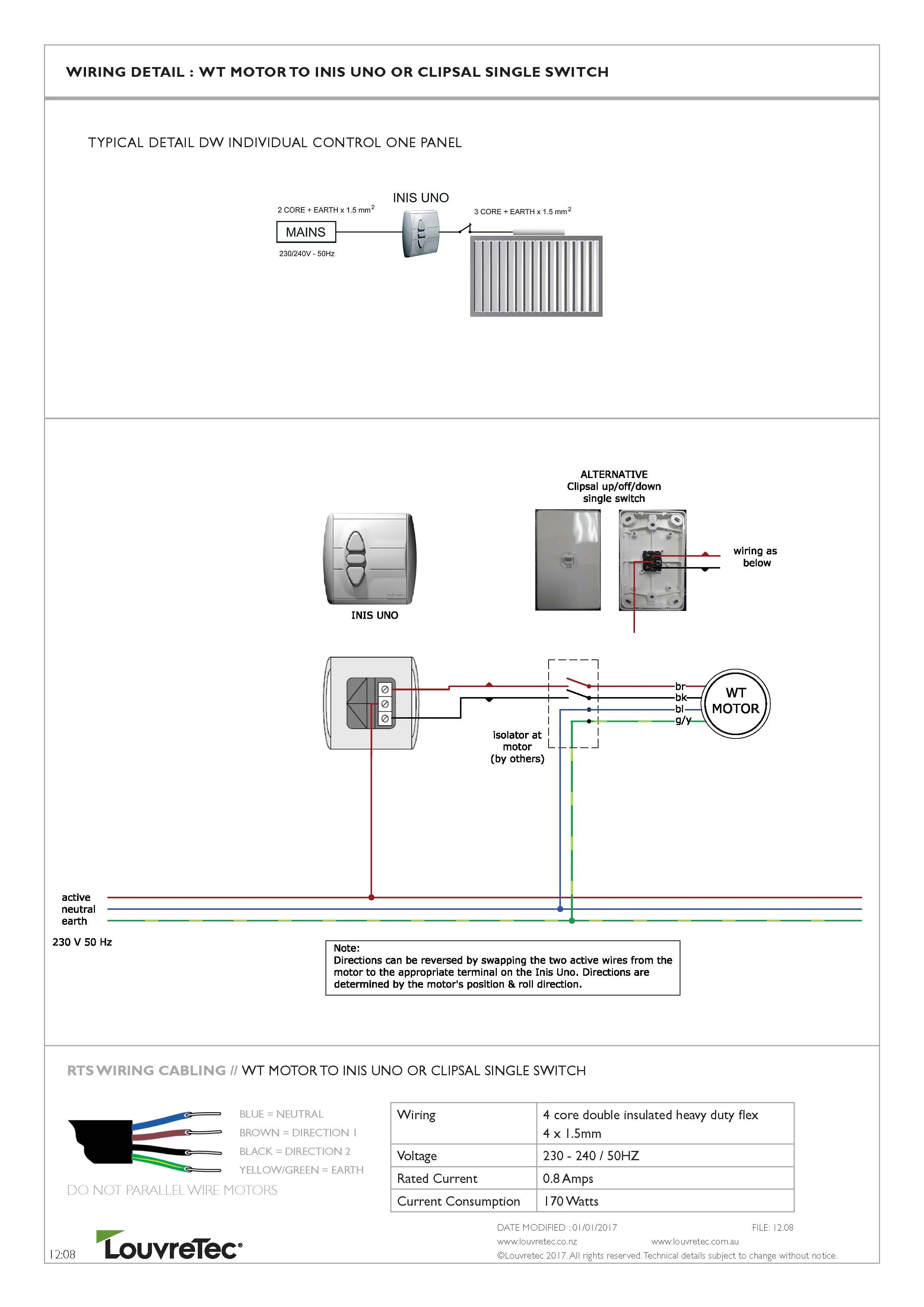 medium resolution of wt motor to inis uno or clipsal single switch 12 08