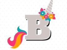 Letter B Unicorn SVG - Initial svg - Girls Unicorn Shirt ...
