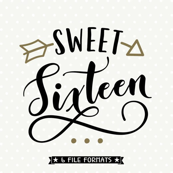 Girls Sweet Sixteen 16th Birthday SVG File Girls