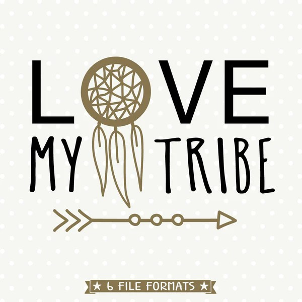 Download Love My Tribe SVG file - Womens T-shirt iron on file ...