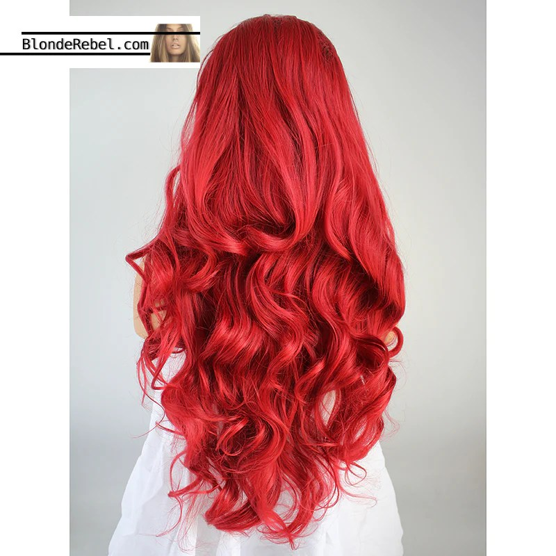 Candy Apple Ombre Rooted Red Heat Safe Synthetic Lace