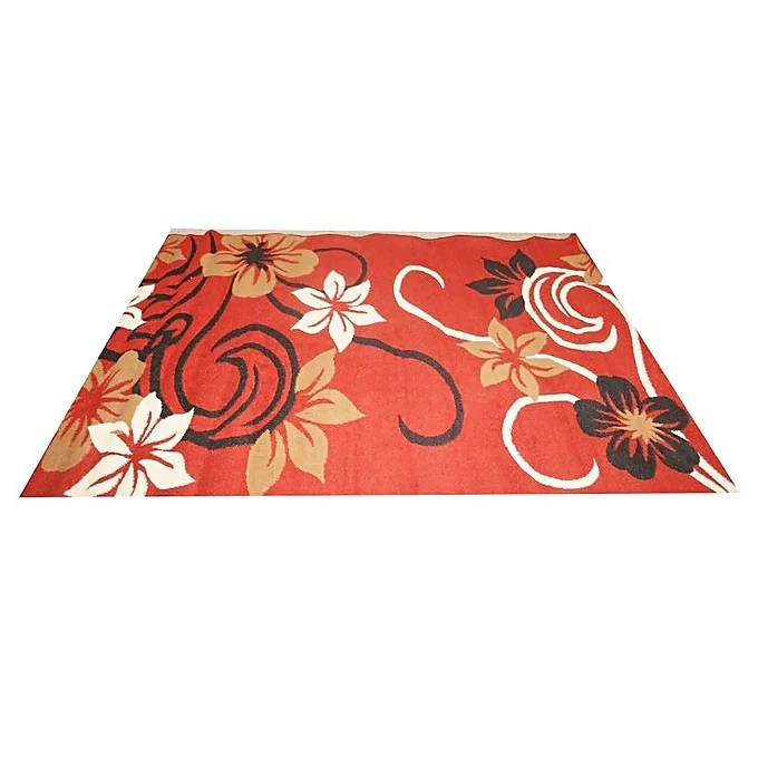 tapis marocain 133 cm x 190 cm rouge noir beige