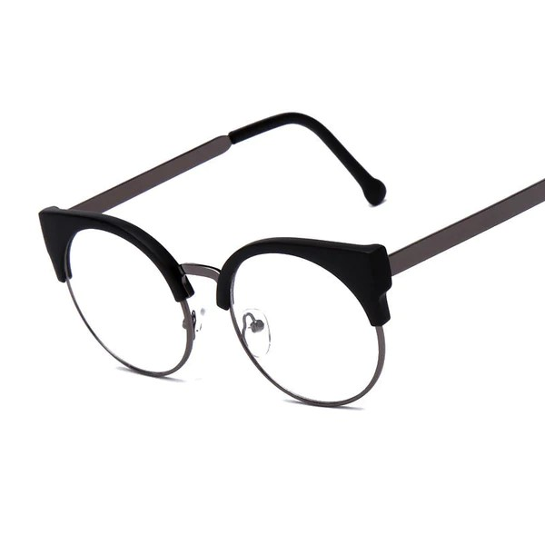 5282f85d5b2 Fashion Women Brand Designer Cat s Eye Glasses Half Frame Cat Eye