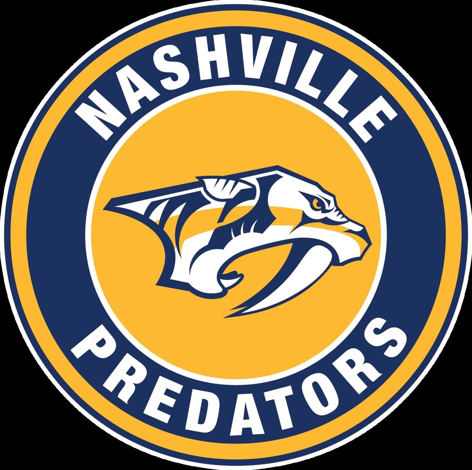 Nashville Predators Circle Logo Vinyl Decal Sticker 5 Sizes Sportz For Less