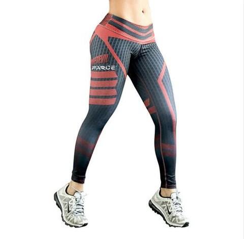 Women Fitness Yoga Pants Women Fitness Slim Sexy Yoga Leggings Elastic Compression Pants High Waist Ladies Winter Running Tights