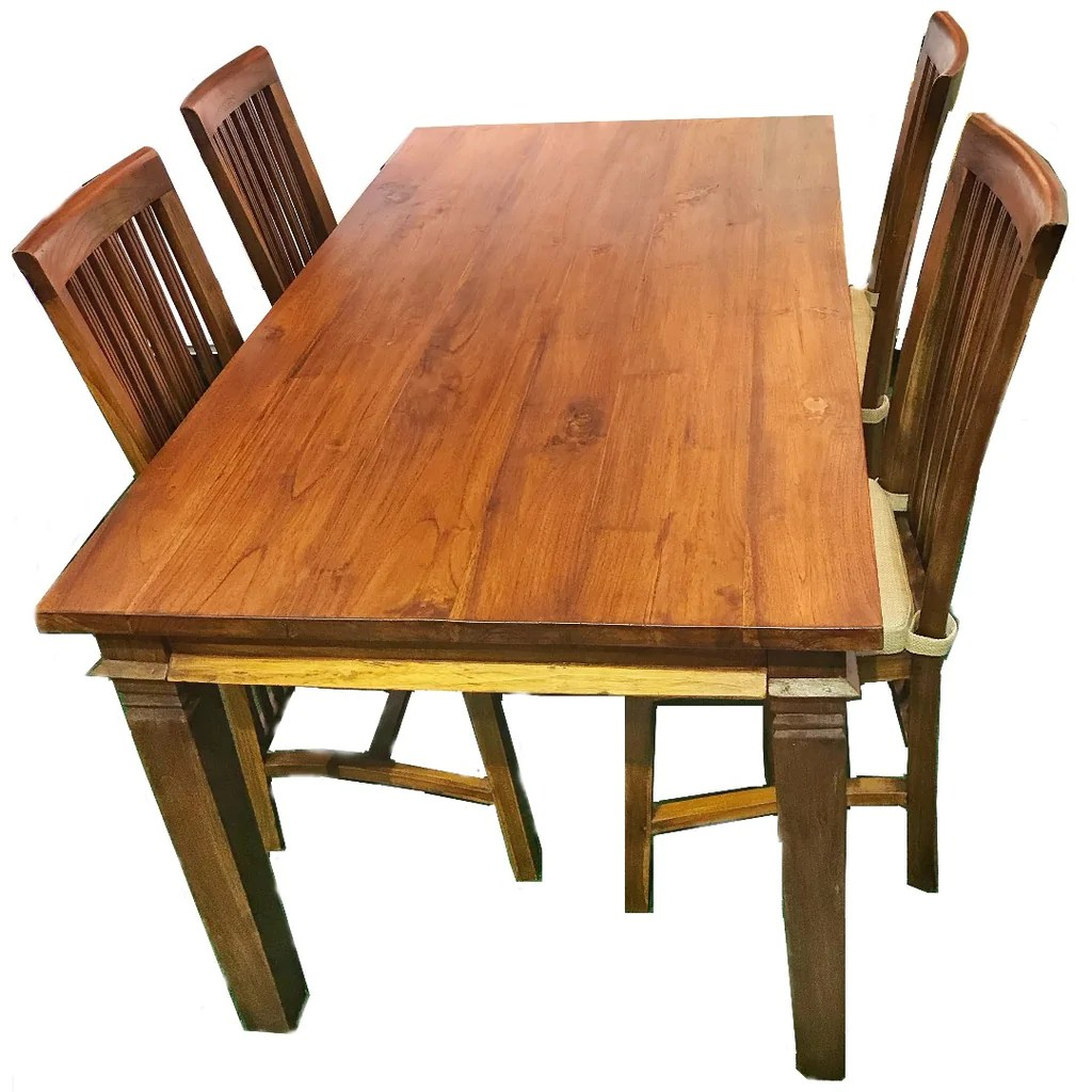 Teak Dining Room Chairs Teak Dining Table W Four Chairs