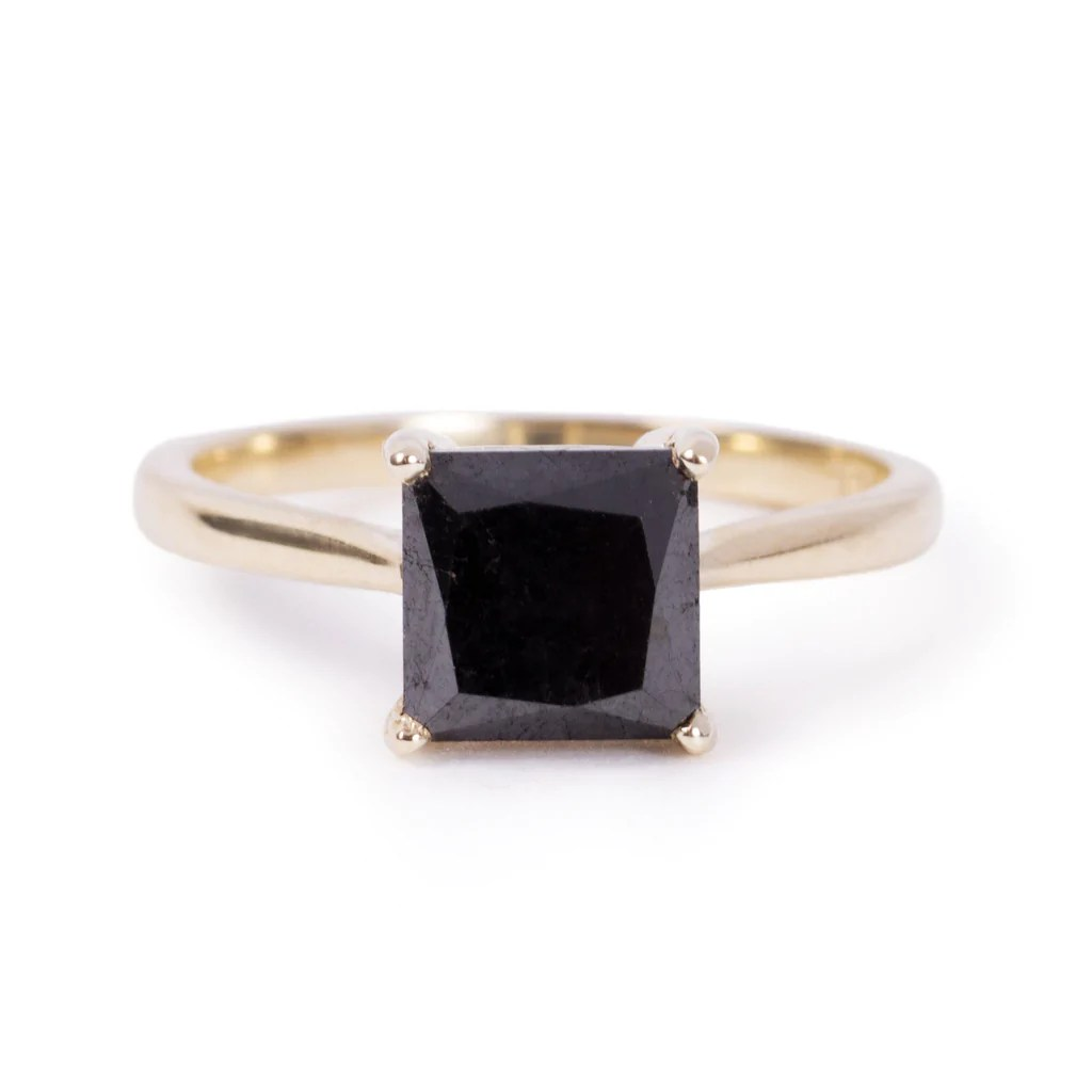 7x7 square cut black diamond